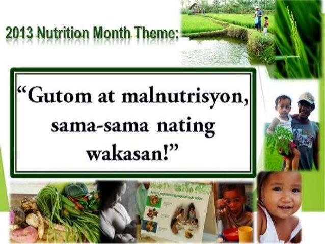 Nutrisyon at Kalusugan •Ano ang Nutrisyon? •Ang Nutrisyon ay ang lahat ng bagay na ating kinakain •Naipapaliwanag din nito...