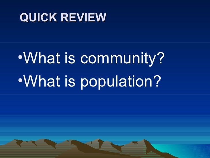 Community Interactions And Sucession Slide 2