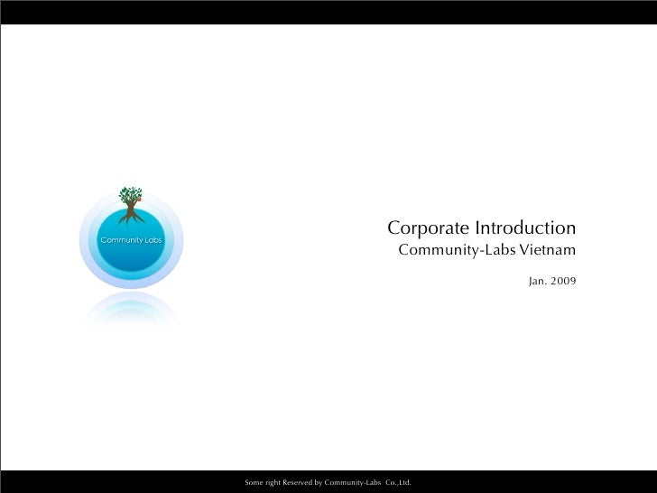 Corporate Introduction                                           Community-Labs Vietnam                                   ...