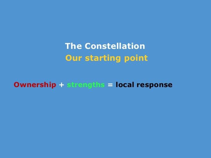 <ul><li>The Constellation  </li></ul><ul><li>Our starting point </li></ul><ul><li> </li></ul><ul><li>Ownership  +  streng...
