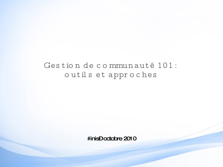Community management 101