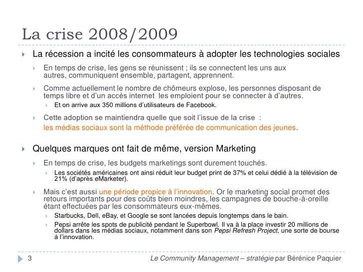 Community Management (part. 2 : stratégie) par Bérénice Paquier Slide 3
