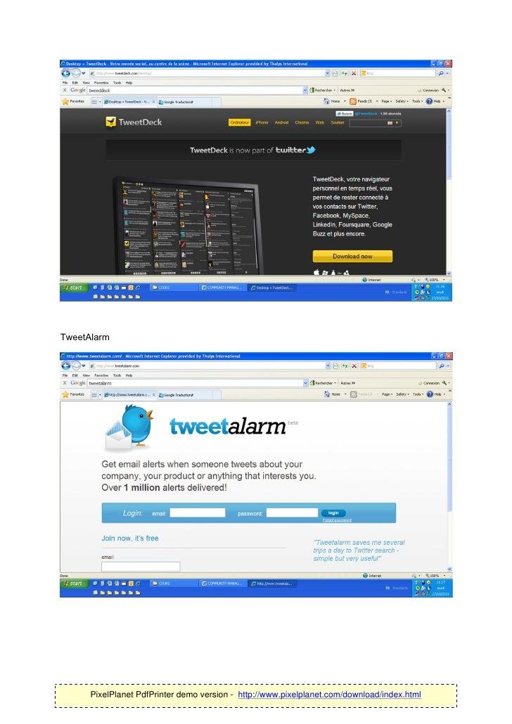 TweetAlarm      PixelPlanet PdfPrinter demo version - http://www.pixelplanet.com/download/index.html