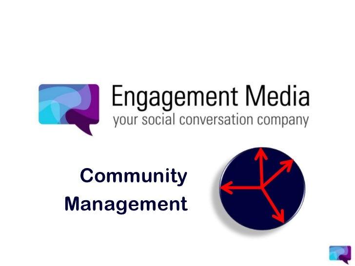 Community<br />Management<br />