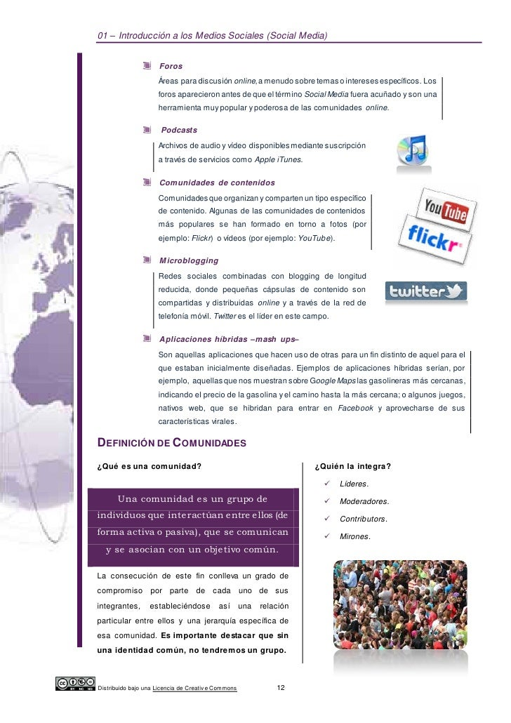 01 – Introducción a los Medios Sociales (Social Media)                      Foros                     Áreas para discusión...