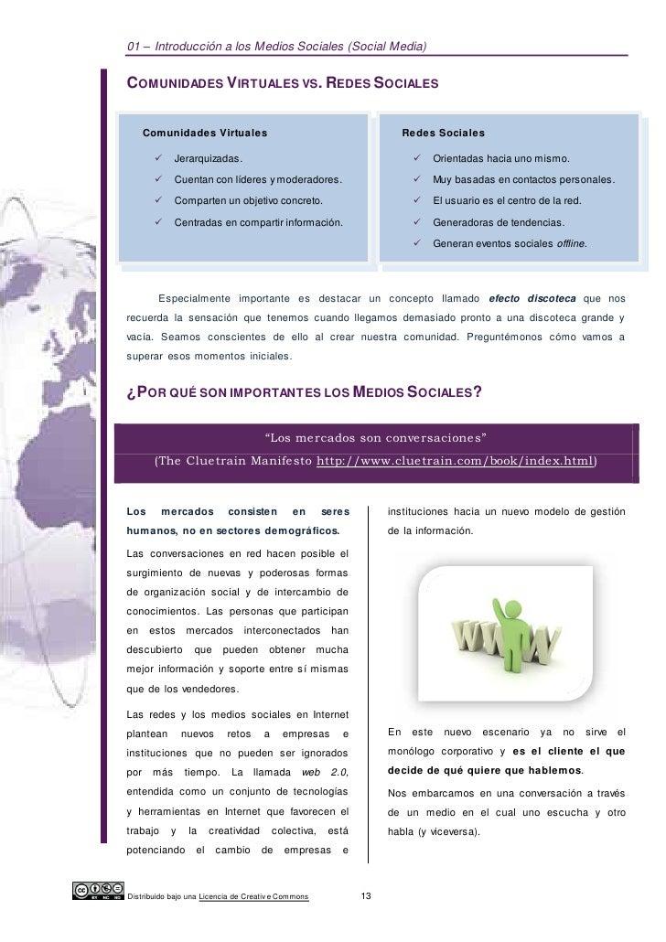 01 – Introducción a los Medios Sociales (Social Media)COMUNIDADES VIRTUALES VS. REDES SOCIALES    Comunidades Virtuales   ...