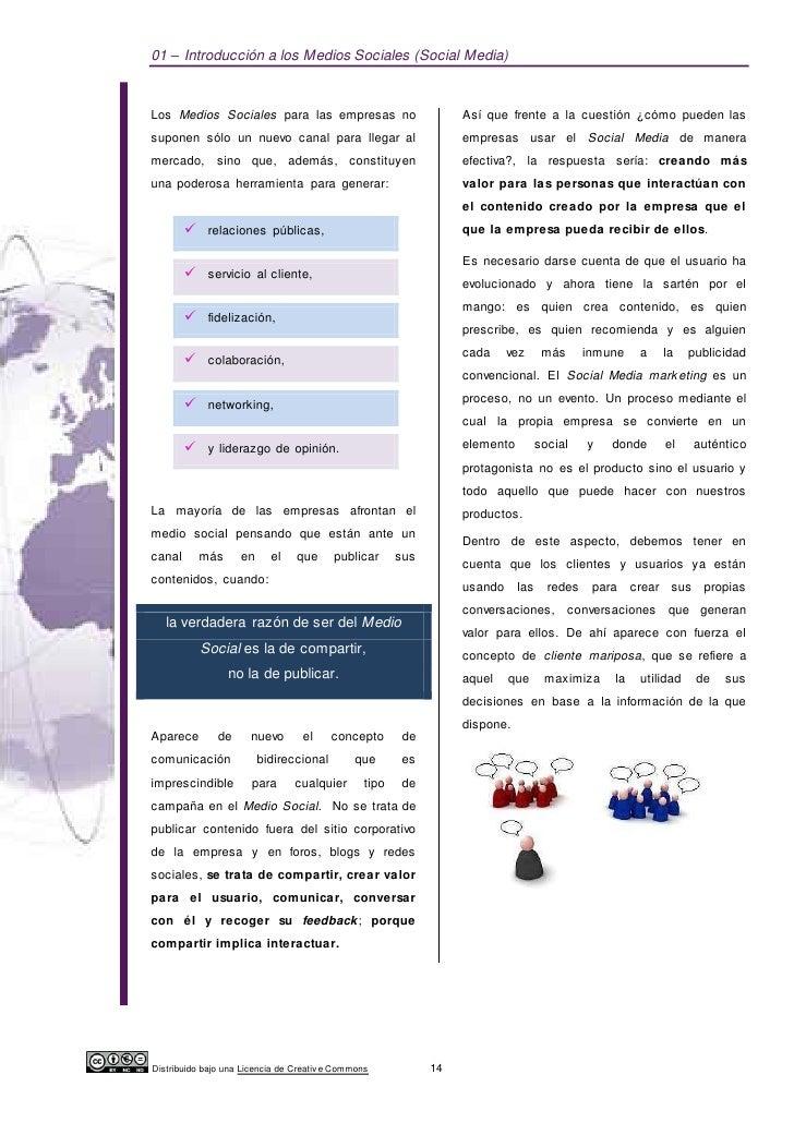 01 – Introducción a los Medios Sociales (Social Media)Los Medios Sociales para las empresas no                           A...