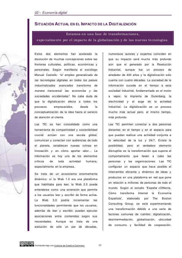 02 – Economía digitalSITUACIÓN ACTUAL EN EL IMPACTO DE LA DIGITALIZACIÓN                               Estamos en una fase...