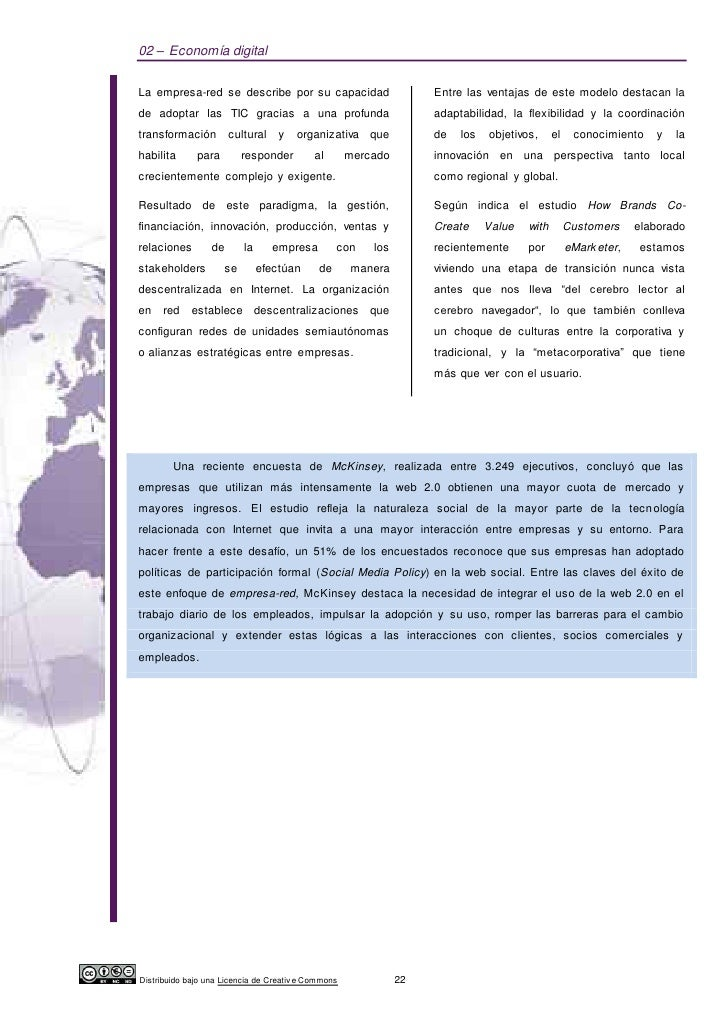 02 – Economía digitalLa empresa-red se describe por su capacidad                         Entre las ventajas de este modelo...