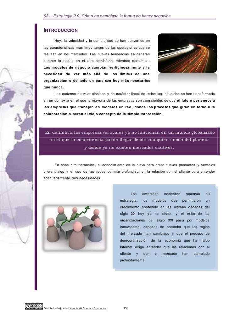 03 – Estrategia 2.0. Cómo ha cambiado la forma de hacer negociosINTRODUCCIÓN        Hoy, la velocidad y la complejidad se ...