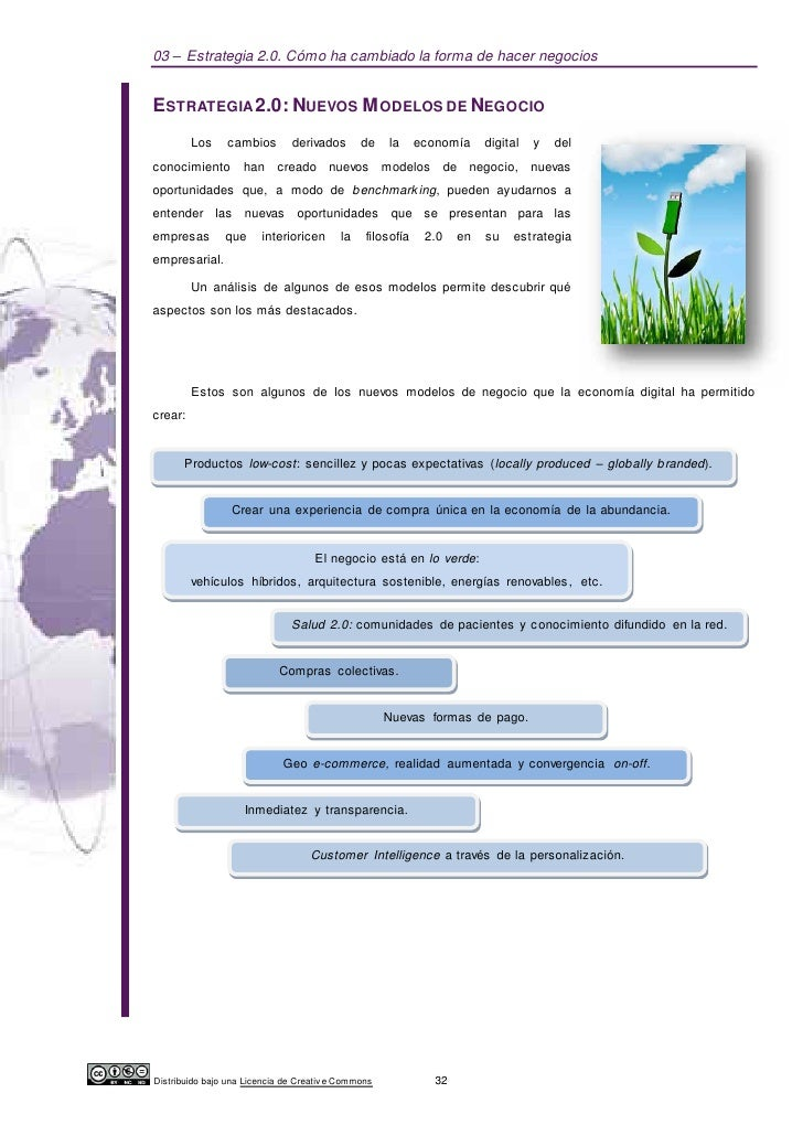 03 – Estrategia 2.0. Cómo ha cambiado la forma de hacer negociosESTRATEGIA 2.0: NUEVOS M ODELOS DE NEGOCIO         Los    ...
