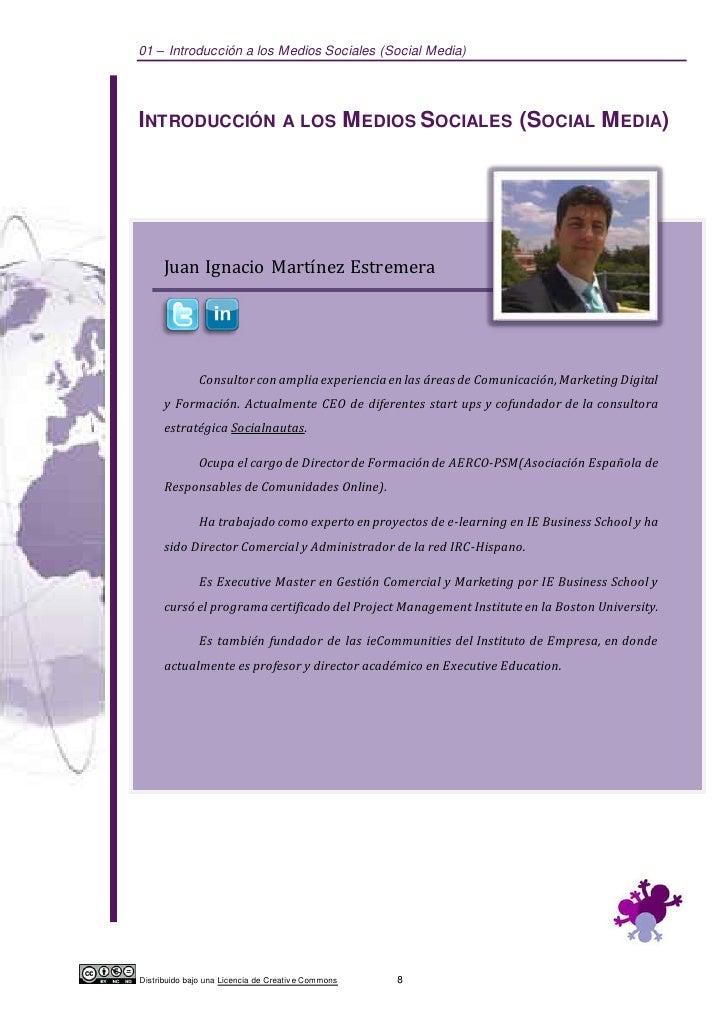 01 – Introducción a los Medios Sociales (Social Media)INTRODUCCIÓN                        A LOS            M EDIOS SOCIALE...