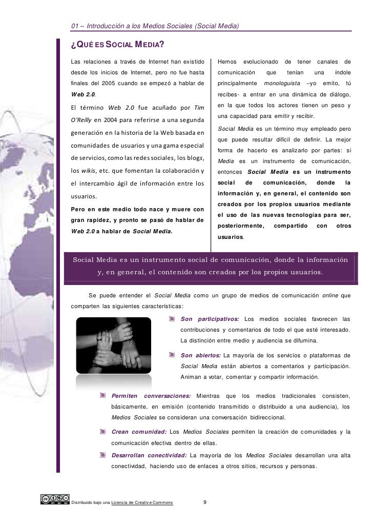 01 – Introducción a los Medios Sociales (Social Media)¿QUÉ ES SOCIAL M EDIA?Las relaciones a través de Internet han existi...