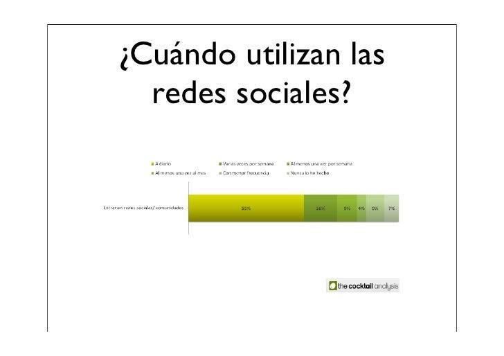¿Cómo utilizan las  redes sociales?