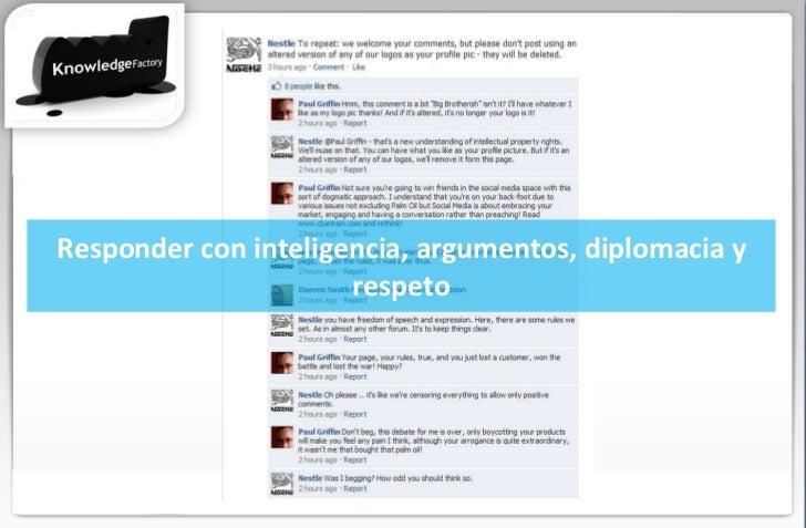 Responder con inteligencia, argumentos, diplomacia y respeto