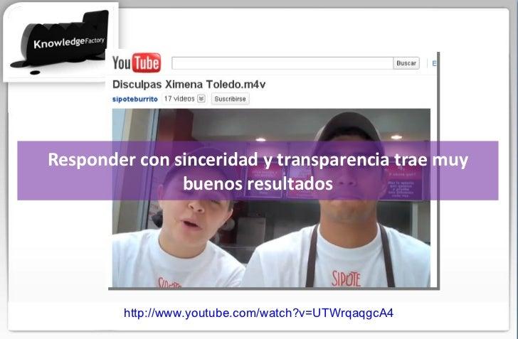 Responder con sinceridad y transparencia trae muy buenos resultados http://www.youtube.com/watch?v=UTWrqaqgcA4