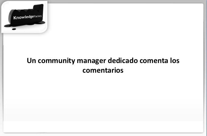 Un community manager dedicado comenta los comentarios