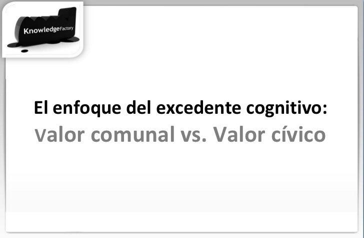 El enfoque del excedente cognitivo: V alor comunal vs. Valor cívico