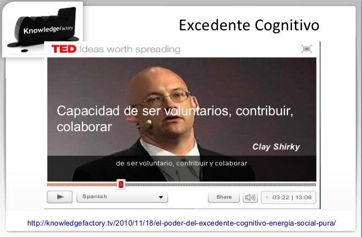 Excedente Cognitivo Capacidad de ser voluntarios, contribuir, colaborar  http://knowledgefactory.tv/2010/11/18/el-poder-de...