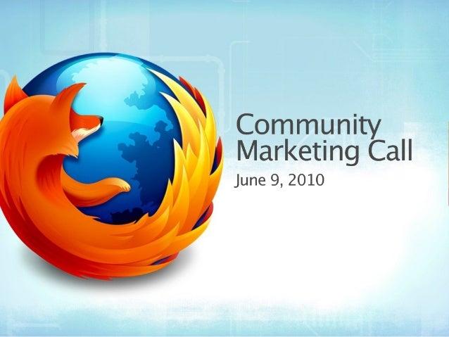 Community Marketing Call 06-09-10