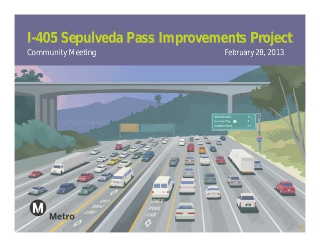 I-405 Sepulveda Pass Improvements ProjectCommunity Meeting             February 28, 2013                                  ...