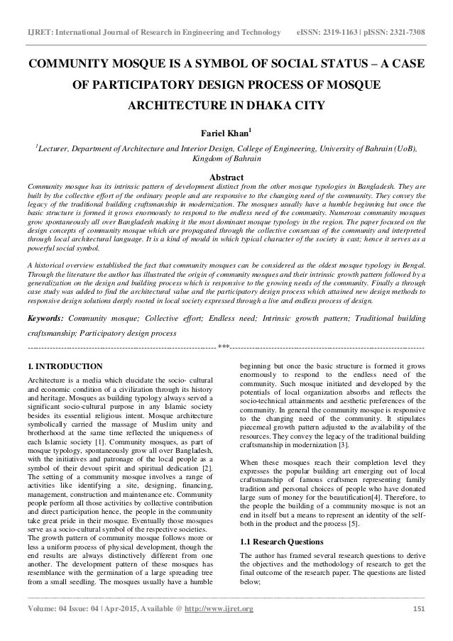 Architect research paper