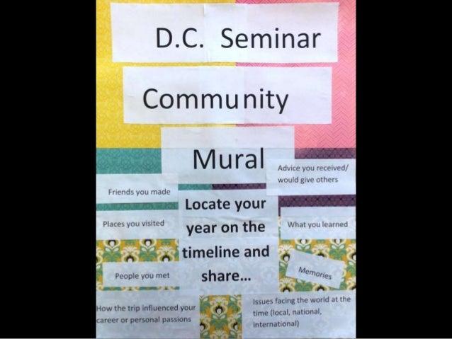 DC Human Rights Seminar Alumni Reunion | Community Mural