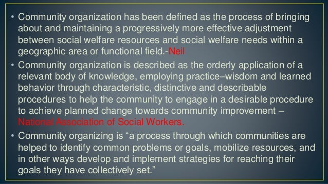 • The fundamental aspect of the community organizations is the principle of cooperative spirit which promotes the people t...