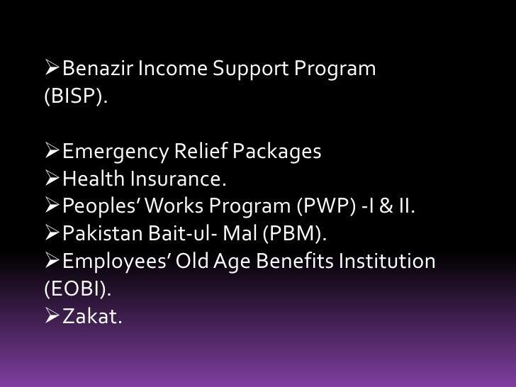 <ul><li>Benazir Income Support Program (BISP).