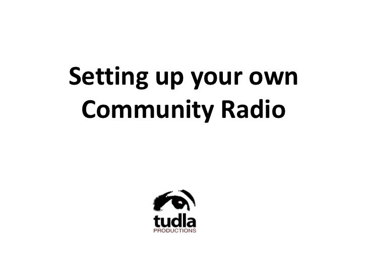 Setting up your own Community Radio