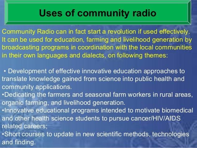 Community radio in agriculture.