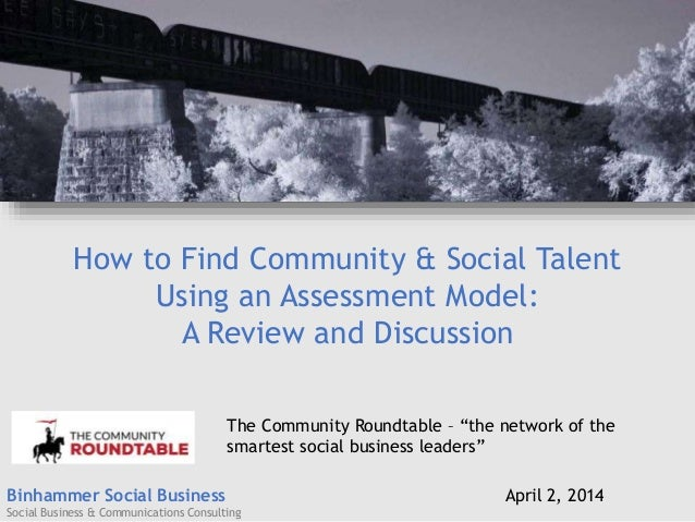 Binhammer Social Business Social Business & Communications Consulting How to Find Community & Social Talent Using an Asses...