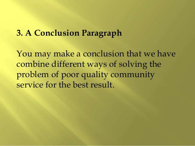 Community service essay conclusion purchase a research paper online