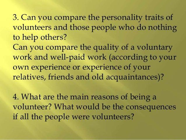 Essay on volunteer service
