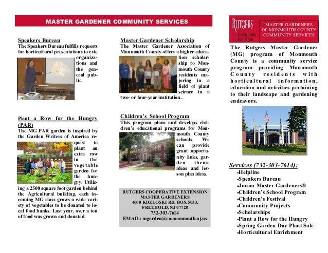 MASTER GARDENER COMMUNITY SERVICES                                                        MASTER GARDENERS                ...