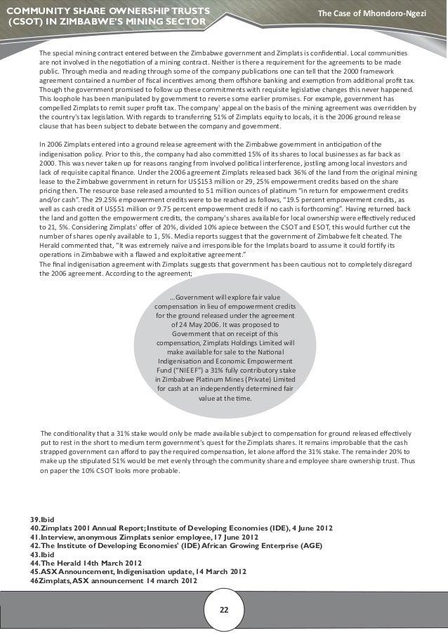 indigenization and economic empowerment act in zimbabwe pdf