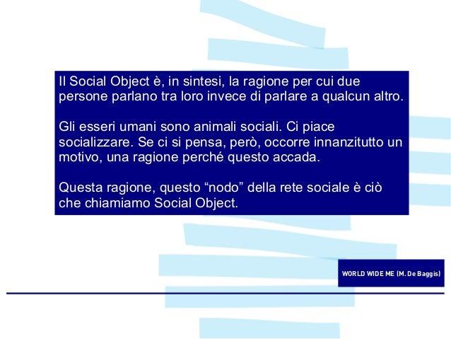 LA VOSTRA START-UP  IL VOSTRO SOCIAL OBJECT?