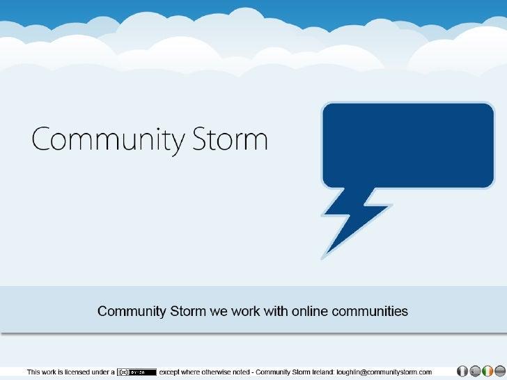 Community  Storm  Overview