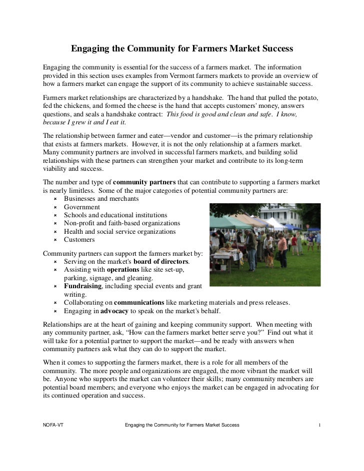 Engaging the Community for Farmers Market SuccessEngaging the community is essential for the success of a farmers market. ...