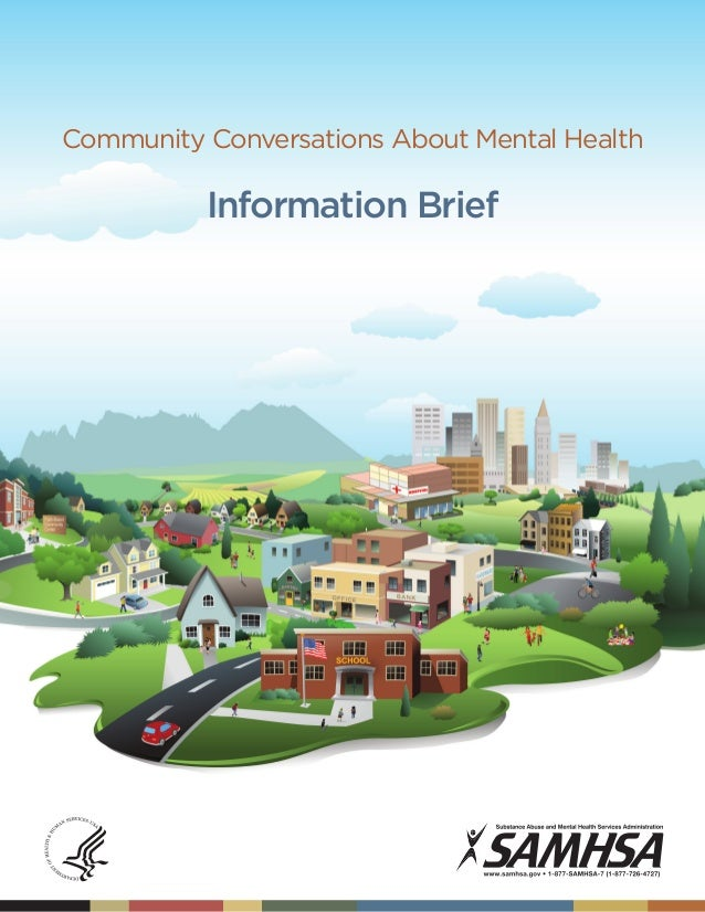 Community Conversations About Mental Health  Information Brief