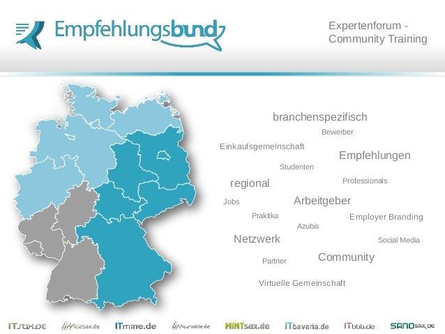 Empfehlungen Jobs Community Netzwerk Einkaufsgemeinschaft Employer Branding Social Media regional branchenspezifisch Virtu...