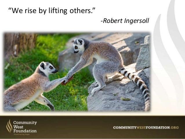 Community West: 10 Quotes About Philanthropy