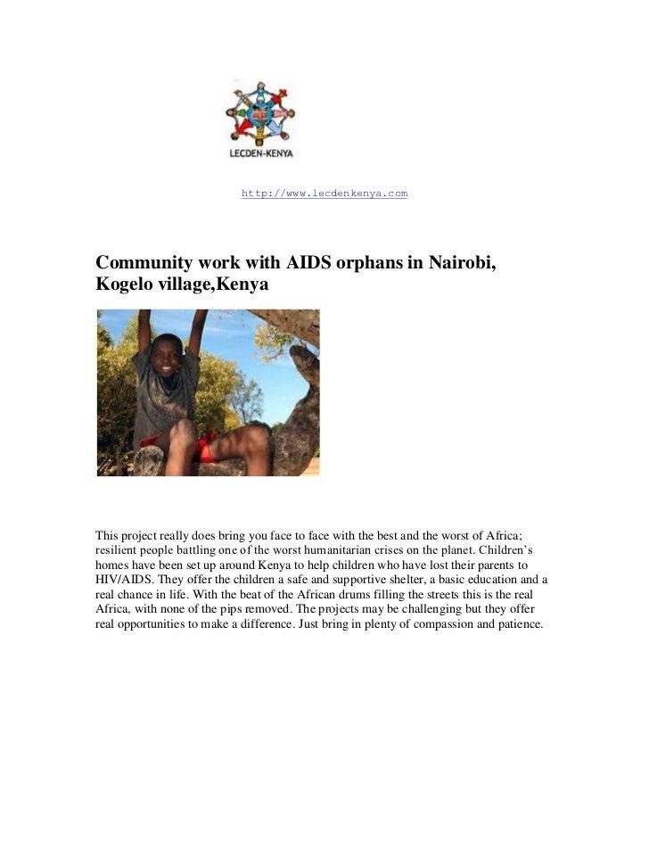 14859000<br />http://www.lecdenkenya.com<br />Community work with AIDS orphans in Nairobi, Kogelo village,Kenya<br />This ...