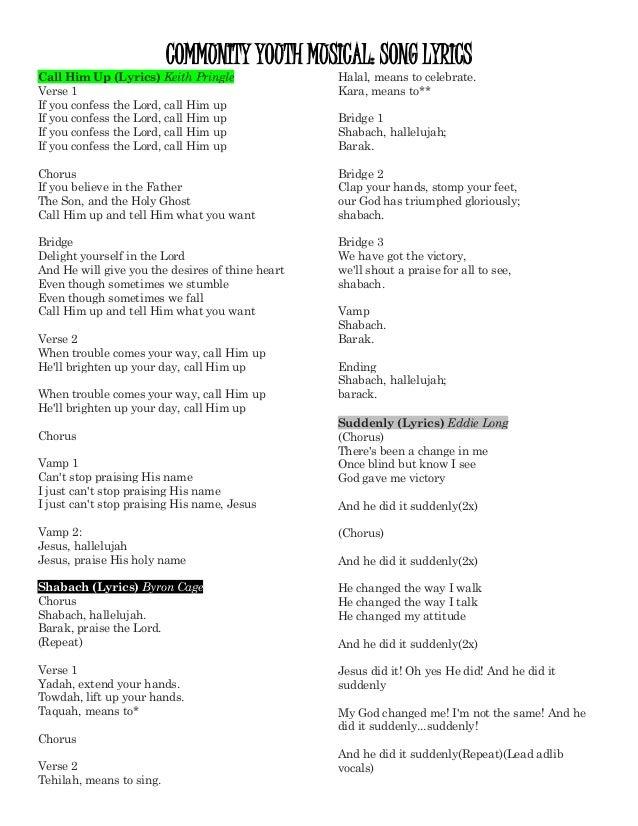 Lyric song lyric search engine : Community Youth Musical Song Lyrics- South Park Tucson 4-18-15