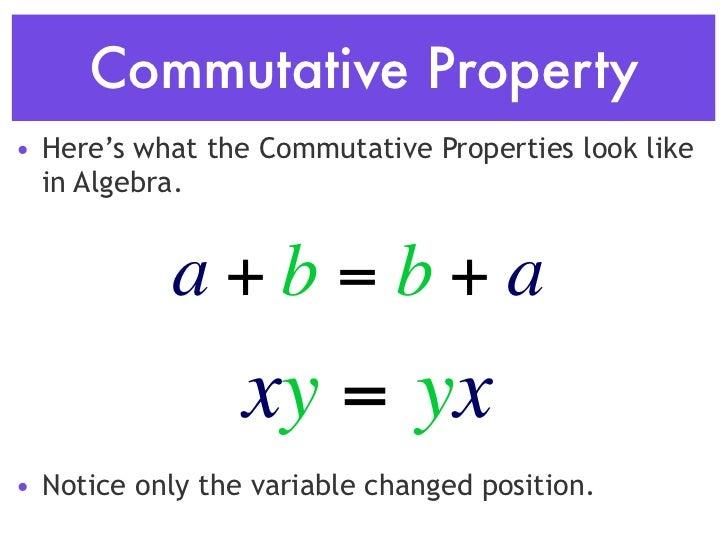 Commutative