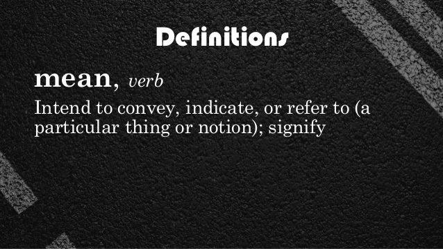 Intend Definition