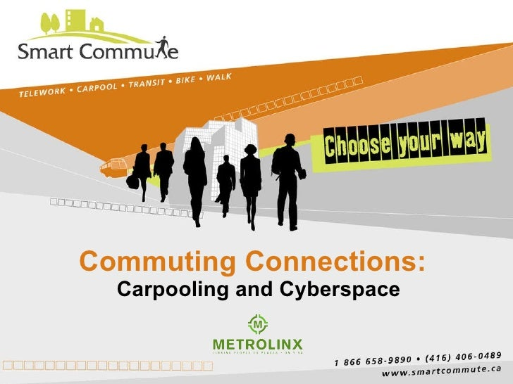 Commuting Connections:  Carpooling and Cyberspace