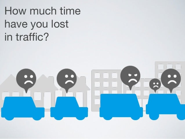 How much timehave you lostin traffic?