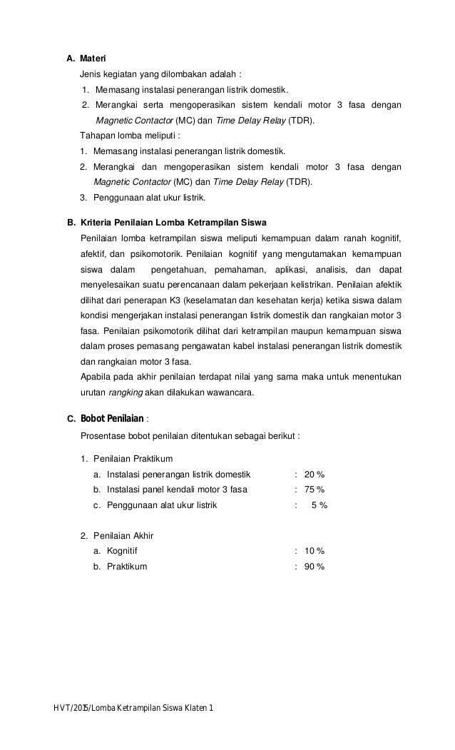 kisi kisi LKS commercial wiring Klaten Wiring Adalah on