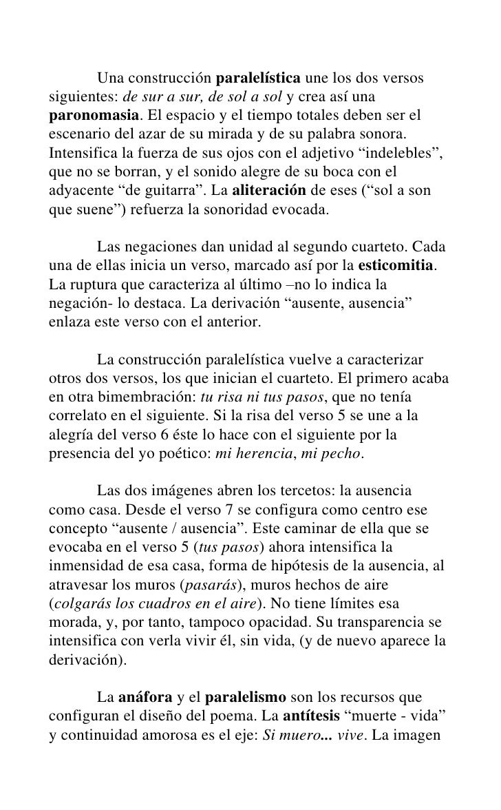 Comentario De Un So Neto De Amor De Pablo Neruda